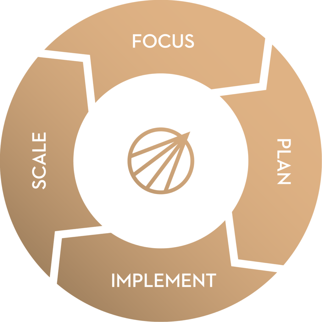Scale, Focus, Plan, Implement